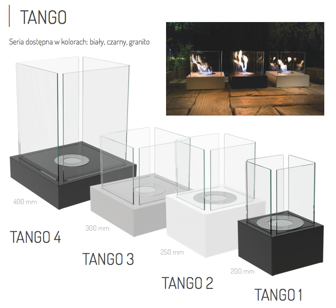 Биокамин TANGO-2 белый TUV Certificate