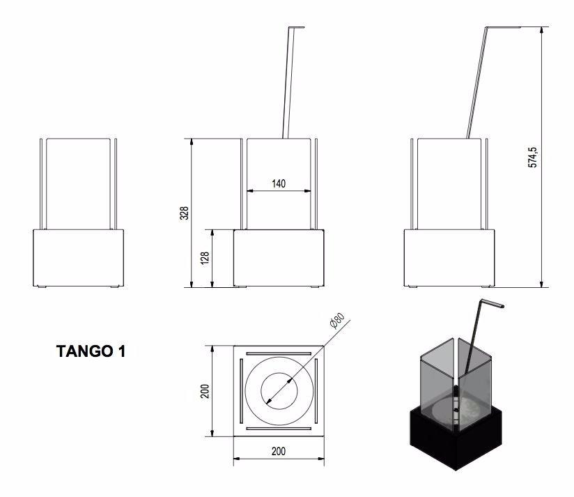 Биокамин TANGO-1 белый TUV Certificate